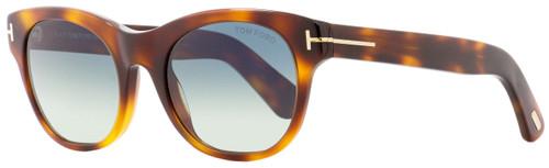 Tom Ford Rectangular Sunglasses TF532 Ally 53W Havana/Gold 51mm FT0532