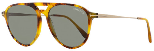 Tom Ford Aviator Sunglasses TF587 Carlo-02 55N Light Havana/Gold 58mm FT0587