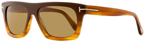 Tom Ford Rectangular Sunglasses TF592 Ernesto-02 50E Brown/Blonde Havana 55mm FT0592