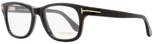 Tom Ford Rectangular Eyeglasses TF5147 001 Shiny Black/Gold 52mm FT5147