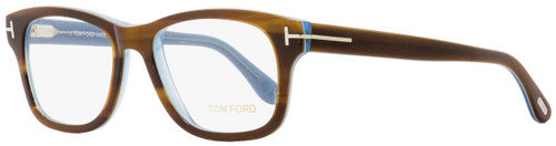 Tom Ford Rectangular Eyeglasses TF5147 056 Striped Havana/Light Blue 52mm FT5147