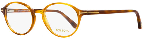 Tom Ford Oval Eyeglasses TF5305 053 Light Havana 49mm FT5305