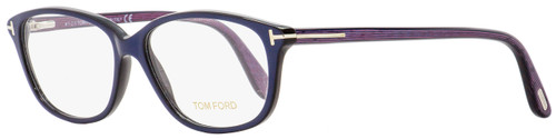 Tom Ford Oval Eyeglasses TF5316 092 Pearl Blue/Chalkstripe 54mm FT5316