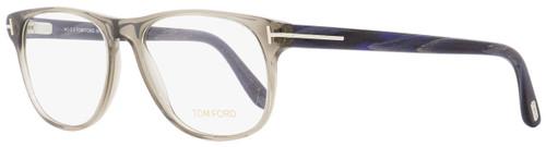 Tom Ford Oval Eyeglasses TF5362 020 Opal Gray/Blue Horn 55mm FT5362