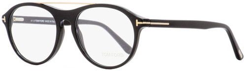Tom Ford Oval Eyeglasses TF5411 001 Shiny Black/Gold 53mm FT5411