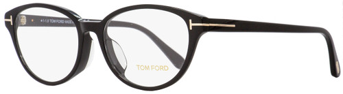 Tom Ford Oval Eyeglasses TF5422F 001 Shiny Black 53mm FT5422F