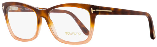 Tom Ford Rectangular Eyeglasses TF5424 056 Havana/Peach 55mm FT5424