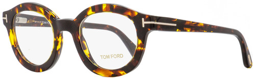 Tom Ford Round Eyeglasses TF5460 052 Havana 49mm FT5460