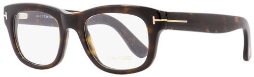 Tom Ford Rectangular Eyeglasses TF5472 052 Dark Havana 49mm FT5472