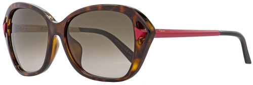 Dior Rectangular Sunglasses Chromatic F 6LYHA Havana/Matte Red 56mm