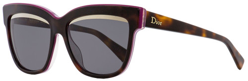 Dior Oval Sunglasses Graphic 3C45S Havana/Plum 55mm
