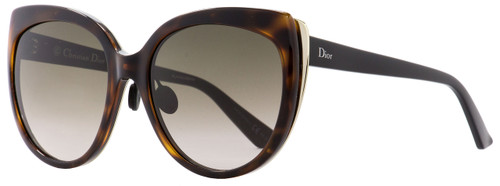 Dior Oval Sunglasses Diorific 1N 3BZHA Havana/Matte Black/Gold 57mm