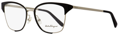 Salvatore Ferragamo Rectangular Eyeglasses SF2157 703 Black/Light Gold 54mm 2157
