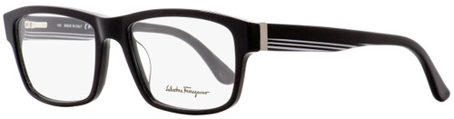 Salvatore Ferragamo Rectangular Eyeglasses SF2676 001 Shiny Black 55mm 2676