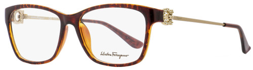 Salvatore Ferragamo Rectangular Eyeglasses SF2705R 214 Tortoise/Gold 53mm 2705