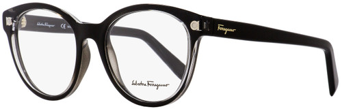 Salvatore Ferragamo Oval Eyeglasses SF2767 001 Shiny Black/Clear 52mm 2767