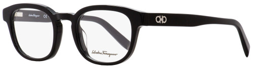 Salvatore Ferragamo Oval Eyeglasses SF2779 001 Shiny Black 48mm 2779