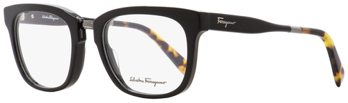 Salvatore Ferragamo Rectangular Eyeglasses SF2785 006 Shiny Black/Havana 53mm 2785