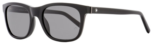 Montblanc Rectangular Sunglasses MB507S 01A Shiny Black 53mm 507