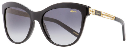Chopard Cateye Sunglasses SCH189S 700F Black/Gold 55mm 189