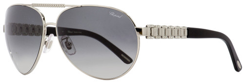 Chopard Aviator Sunglasses SCHA63S 0628 Palladium/Black 63mm A63