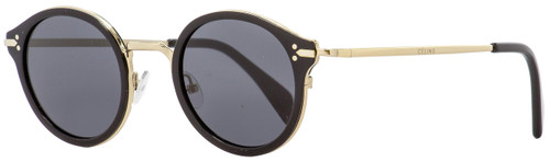 Celine Round Sunglasses CL41082S ANWBN Black/Gold 46mm 41082