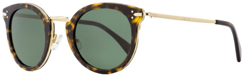 Celine Oval Sunglasses CL41373S ANT85 Gold/Havana 48mm 41373