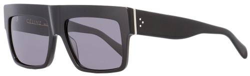 Celine Rectangular Sunglasses CL41756S 8073H Shiny Black 56mm 41756