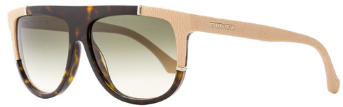 Balenciaga Rectangular Sunglasses BA25 52B Dark Havana/Rose  58mm BA0025