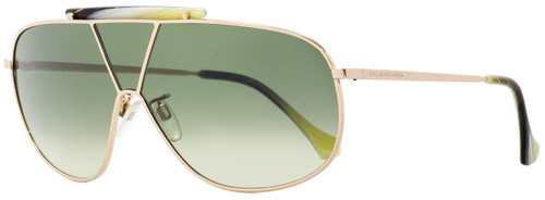 Balenciaga Shield Sunglasses BA30 28P Gold/Horn 66mm BA0030