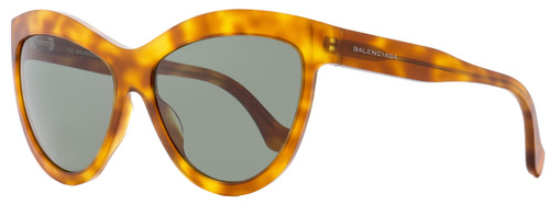Balenciaga Cateye Sunglasses BA90 53N Blonde Havana 60mm BA0090