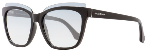 Balenciaga Square Sunglasses BA93 01C Black 58mm BA0093