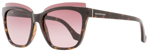 Balenciaga Square Sunglasses BA93 52T Dark Havana 58mm BA0093