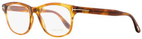 Tom Ford Round Eyeglasses TF5399 050 Transparent Brown Melange 52mm 5399