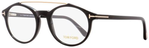 Tom Ford Oval Eyeglasses TF5455 001 Shiny Black 50mm 5455
