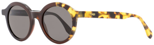 Fendi Round Sunglasses FF0066S MXUNR Black/Brown/Tortoise 48mm 066