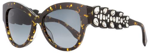 Fendi Oval Sunglasses FF0139S N6DHD Havana Spotted Black 55mm 139