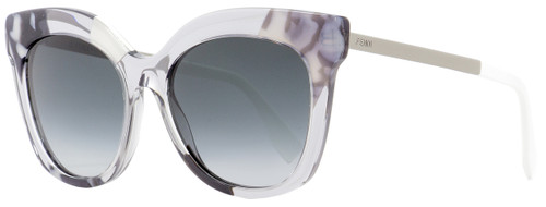 Fendi Square Sunglasses FF0179S 27Q9O Gray/Crystal/Ruthenium 53mm 179