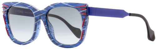 Fendi Square Sunglasses FF0180S Kinky VDNJJ Patterned Blue 54mm 180