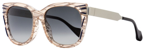 Fendi Square Sunglasses FF0180S Kinky VDOVK Patterned Pink/Palladium 54mm 180