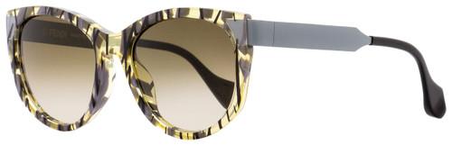 Fendi Oval Sunglasses FF0181S Sliky VDWCC Patterned Transparent Ochre 54mm 181