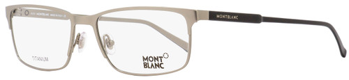 Montblanc Rectangular Eyeglasses MB627 015 Light Ruthenium/Black 57mm 627
