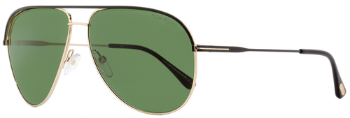 Tom Ford Aviator Sunglasses TF466 Erin 05N Black/Gold 61mm FT0466