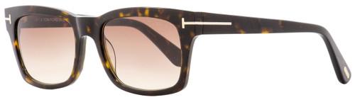 Tom Ford Rectangular Sunglasses TF494 Frederik 52F Dark Havana 54mm FT0494