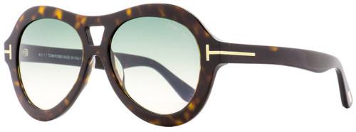 Tom Ford Oval Sunglasses TF514 Isla 52W Dark Havana 56mm FT0514