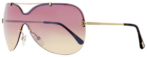 Tom Ford Shield Sunglasses TF519 Ondria 28Z Gold/Havana 0mm FT0519