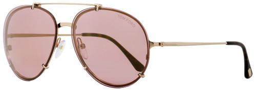 Tom Ford Oval Sunglasses TF527 Dickon 28Z Gold/Havana 61mm FT0527