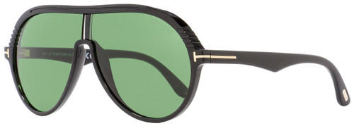 Tom Ford Oval Sunglasses TF647 Montgomery-02 01N Shiny Black 63mm FT0647