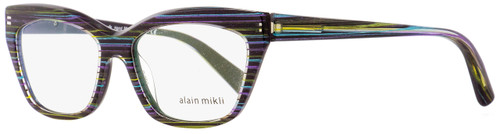 Alain Mikli Rectangular Eyeglasses A03016 3026 Mulit-Color/Striped/Glitter 53mm 3016