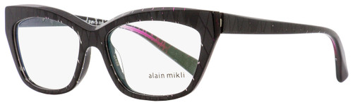 Alain Mikli Rectangular Eyeglasses A03016 F006 Black Pearlescent 53mm